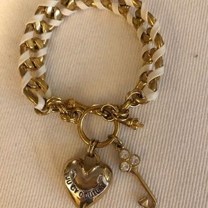Juicy Couture Gold/Leather Charm Bracelet